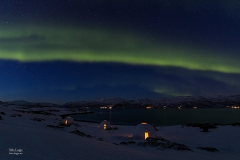 Northernlights over the samiadventure domes