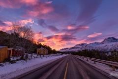 Sunset in Skiboten